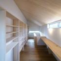 2階廊下、書斎